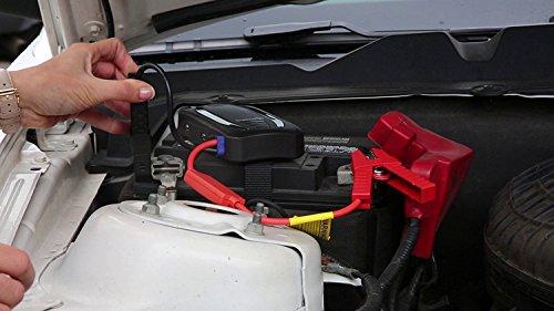Mini portátil coche de arranque Ivation banco de la energía con 12,000 mAh de capacidad – batería de coche con el impulso de suministros de 400 amperios – Características de la luz LED y doble dispositivo USB puertos de carga