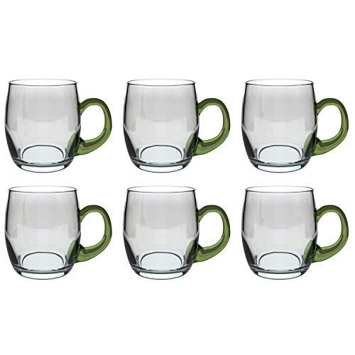 Weinseidel mit grünem Henkel, Glas, 250ml, H 8,7cm, Stück:6 Stück
