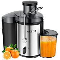 AKZIM Fruits Centrifugeuses, Extracteur de Jus à Bouche Large avec Commande à Double Vitesse pour Jus de Fruits et de Légumes,sans BPA,400 W