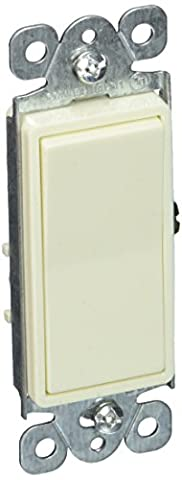 Morris 82053 Decorative Switch, Single Pole, 120V/277V, 15 Amp Current, Almond by Morris