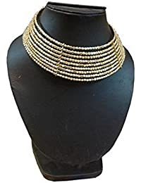 Mayank Jewels Golden & Alloy Choker Necklace For Women And Girls