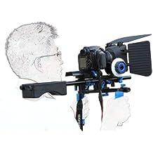 SunSmart Pro Rig DSLR Kit Movie Shoulder Mount Rig con Follow Focus y caja mate para Todos cámaras DSLR, cámaras,