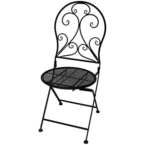 Oanzryybz Tables Folding Chairs Furniture Bistro Patio Coffee Garden Cocktail Outdoor Chair (Color : 1 Chair)