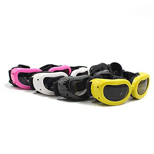 Hksfnsj Brille für Haustiere im Freien 4-Pack-Hundebrille für UV-Schutz Sonnenbrille Winddicht mit verstellbarem Band für Welpen Doggy Cat Brille wasserdicht Winddicht