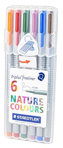 Staedtler 334 SB6CS2 Triplus Fineliner Pastell Set 2, in aufstellbarer Box, 6 Stück