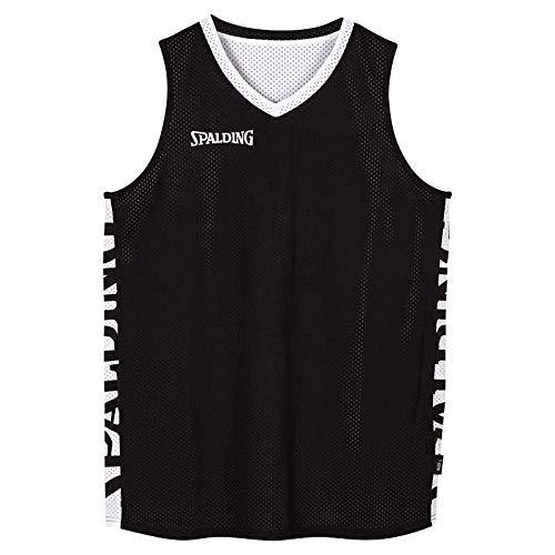 Spalding Herren Essential Reversible Shirt Trikot, schwarz/Weiß, L -