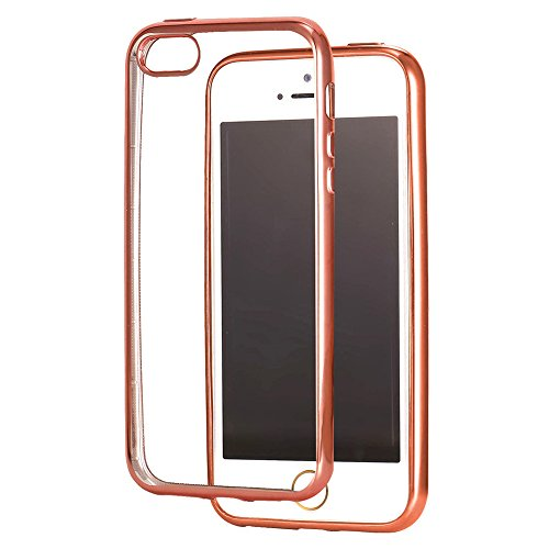 "Coque iPhone 5 Rose Gold, Bandmax Coque Silicone Antichoc pour iPhone 5s Étui de Prtection en TPU pour iPhone SE (4""/Rose gold)"