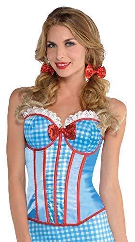 Fancy Me Damen Sexy Kansas Cutie Dorothy Welttag des Buches Tv Film Karneval Kostüm Verkleidung Korsett UK 8-14 - - Dorothy Pet Kostüm