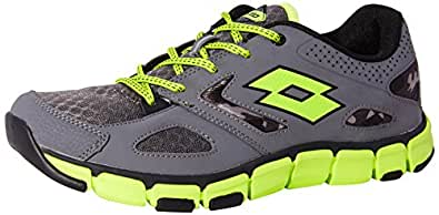 Lotto Men's Congo Grey and Lime Running Shoes - 6 UK/India (40 EU)