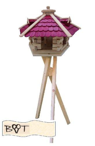 Bird Feeder Xxxl Vöglehus Wooden Bird House Large Bird Villa Wood Sg60roms With Stand Red Wooden Shingle