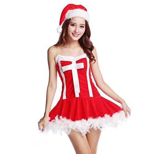 Weihnachten Für Zu Und Sie Ihn Kostüm - Erotische Baby Dolls & Negligees Erotische Kostüme Für Damen Fun-Unterwäsche Weihnachten Cosplay Uniform Versuchung Nachtclub Weiblicher Erwachsener Weihnachtsmann Sexy Dessous Rot XXL