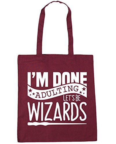 hippowarehouse-im-done-adulting-lets-be-wizards-tote-shopping-gym-beach-bag-42cm-x38cm-10-litres