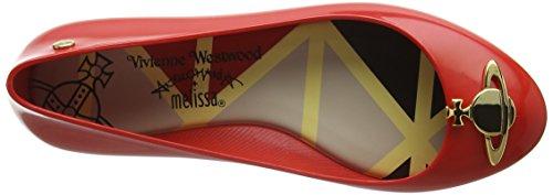 Vivienne Westwood & Melissa Vw Space Love 16, Ballerines femme Rouge - Red (01371-Red Orb)