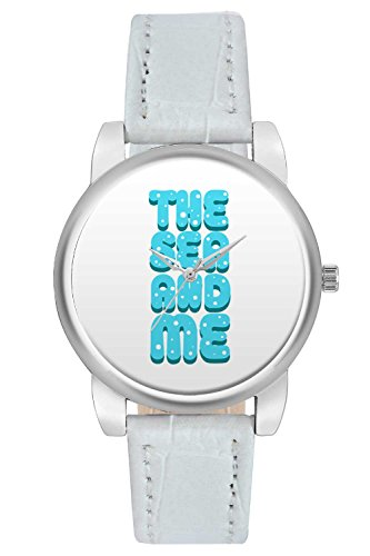 Women's Watch, BigOwl The Sea And Me Typography Designer Analog Wrist Watch For Women - Gifts for her dials