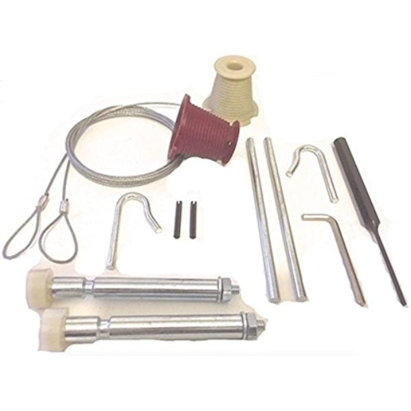 Garage Door Repair Kit Includes Cones And Cables Nut Type Roller Spindles To Suit Henderson Canopy Amazon Co Uk Diy Tools