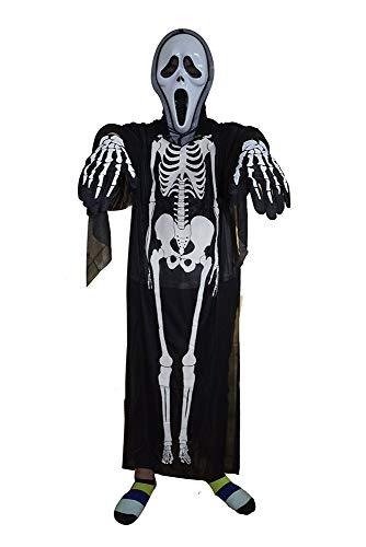 XGNL Halloween Cosplay Skelett Geister Kostüm Maskerade Horror Maske Kostüm