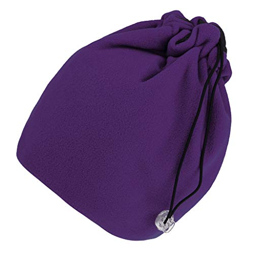 perfeclan Verstellbarer Schlauchschal Stirnband Kopfmaske Cap Neck Polar Fleece Headwear - Lila Lila Polar-fleece