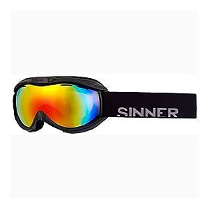SINNER Toxic Skibrille/Snowboardbrille mit Belüfteten Doppel Spiegelscheibe Revo