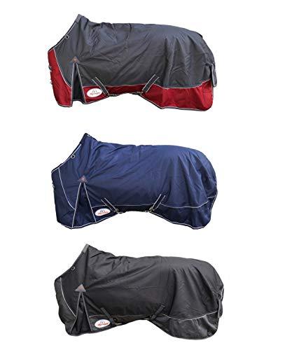 Marengos Weidedecke Polarfleecefutter 1200D Comfort Asphalt/rubinrot 145cm