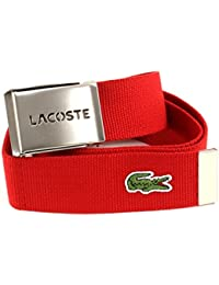 LACOSTE Gift Box Woven Strap W85 Red