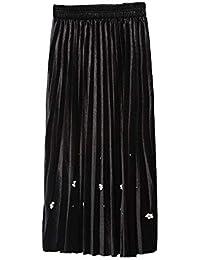 Amazon.es  falda tubo negra midi - Negro   Mujer  Ropa 2c3a17e3ad54