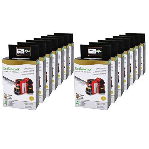 EcoDescalk Ökologisches Pulver, 14x4 Beutel. 100% Natürlicher Entkalker. Entkalkung Reiniger für Kaffeemaschinen. Alle Marken:Bosch,Nespresso,DeLonghi,Tassimo. 56 Entkalkungsvorgänge.Entwickelt in DE