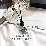 WSCDEHUniverso Espacial Astronauta Robot Colgante Cadena Collar De Metal para Hombres Mujeres Niñas Fiesta Joyería RegaloF Cadena Longitud 80 Cm