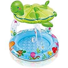 Intex - Piscina para bebe, 102 x 107 cm, diseño tortuga con toldo (57119NP)