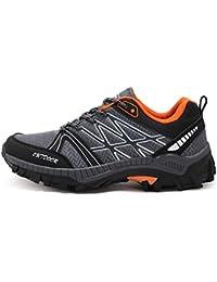 LXMEI Sandali sportivi estivi da uomo in pelle Sandali esterni da trekking, scarpe da trekking, scarpe da spiaggia antiscivolo da uomo traspiranti (Colore : Dark brown, Dimensione : 40 EU)