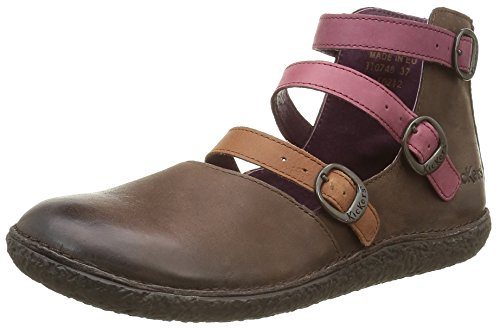 Kickers Honorine, Women's Ballet Flat, Brown - Braun - Marron (Marron Foncé...