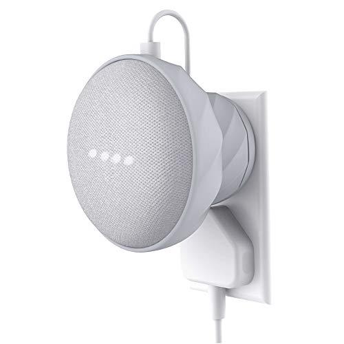 KIWI design Soporte para Home Mini de Google, Soporte Silicona para Pared, Gris Claro(Home Mini no está Incluido)