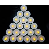 Fully Multicoloured Battery Operated Led Tealight Candles, Christmas Decoration, 12 Pcs, 25 Grams, Pack Of 1