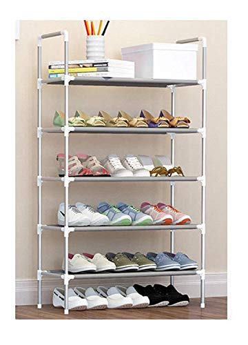 Litleo Carbon High Fiver Metal Collapsible Shoe Rack,Standard (Grey)