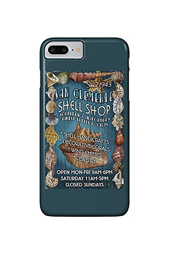 San Clemente, California - Shell Shop Vintage Sign (iPhone 7 Plus Cell Phone Case, Slim Barely There)