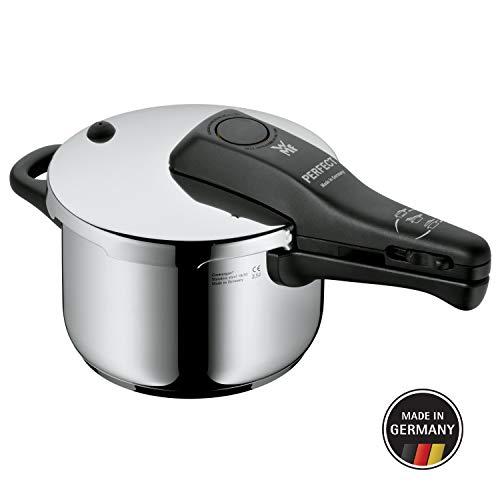 WMF Perfect Schnellkochtopf,  2,5l, 18 cm, Cromargan Edelstahl poliert, 2 Kochstufen, Einhand-Kochstufenregler, Induktion