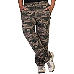 Clifton Men's Cotton Army Track Pants (AAA00010215-15_Walnut_Large)
