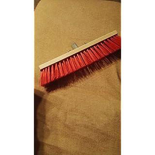 Arndt broom, Brück's master quality road broom, hall brush, elaston broom, with extra robust metal bracket, 28 mm, red, 40 cm