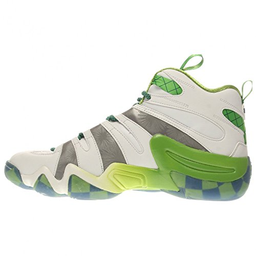 Adidas Performance Crazy 8 chaussure de basket, clair Onix, 6,5 M nous White/Silver Metal/Black
