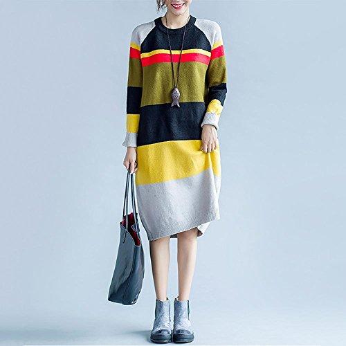 ZQQ Giacca donna plus size abiti moda colore Joker in cappotto di lana maglia lunga , code , colors