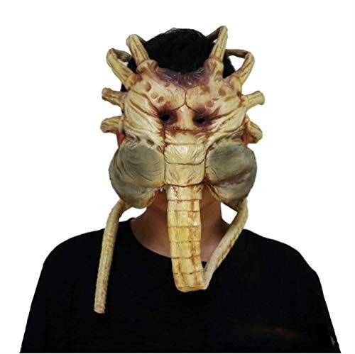 Kostüm Super Scary Clown - Xiao-masken Maske Maskerade Prom Maske Clown Maske Scary Halloween Kostüm Horror Maske Bloody Latex Maske Super Terrorist Maske Party Terror Cosplay Kostüm Maske for Erwachsene (Einheitsgröße)