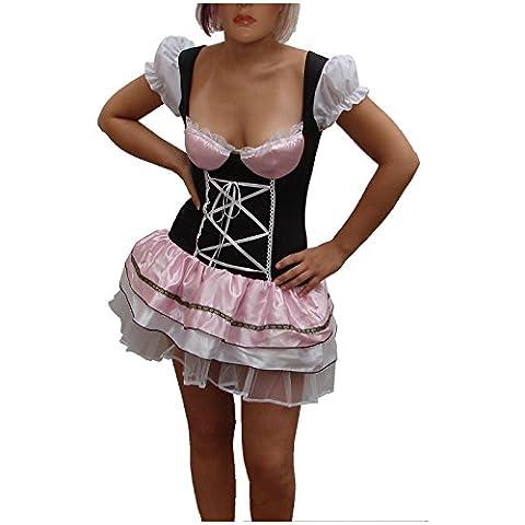 Dirndl braun/rosa Gr. 36/38 Sexy Kleid Tracht Trachtenmode Trachtenkleid