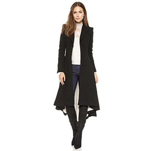 Steampunk Größe Plus Kostüm - Anywow Damen Steampunk Vintage Frack Jacke Gothic Smoking Uniform Viking Renaissance formalen Frack Mantel Coat Plus Größe (XXXXL, Schwarz)