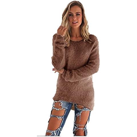 Amlaiworld Sólido ocasional de manga larga suéteres del puente de la blusa