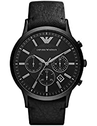 Emporio Armani Herren-Armbanduhr XL Chronograph Quarz Leder AR2461