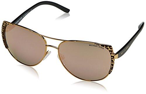 Michael Kors Unisex MK1005 Sadie I Sonnenbrille, Gold 1057R5), One size (Herstellergröße: 59)