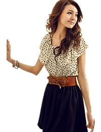 Aolevia summer multifonctionnel sac cosmétique pochette de femmes robe d'été pour femme en chiffon avec ceinture taille xS-xl