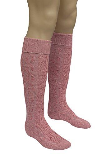 Trachten Kniestrümpfe - in altrosa (Rosa Trachten Socken)