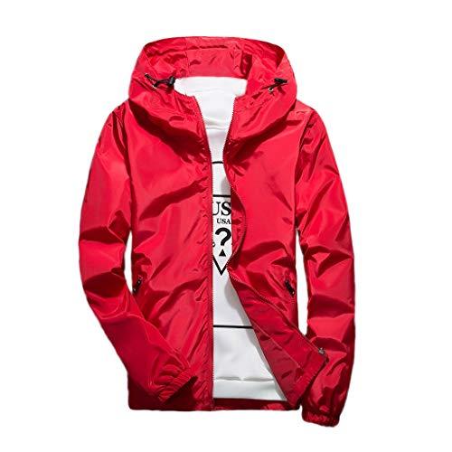 Tosonse Bomberjacke Herren Herbst Winter Casual Reine Farbe Hoodie Reißverschluss Outdoor Sports Jacke Mantel Sweatshirt