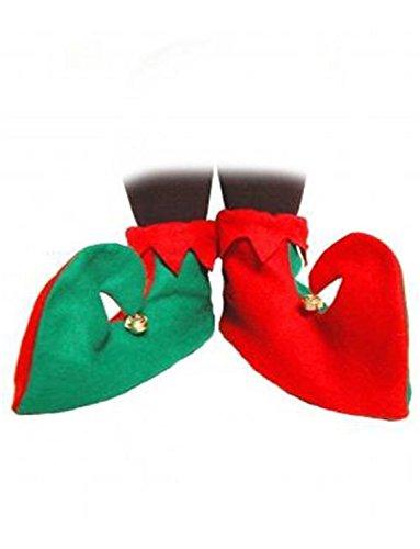 Elfen Schuhe Weihnachten Kostüm Zubehör Santa's Helfer Elfen Stiefel pixie-schuhe (Filz Elfen Schuhe)