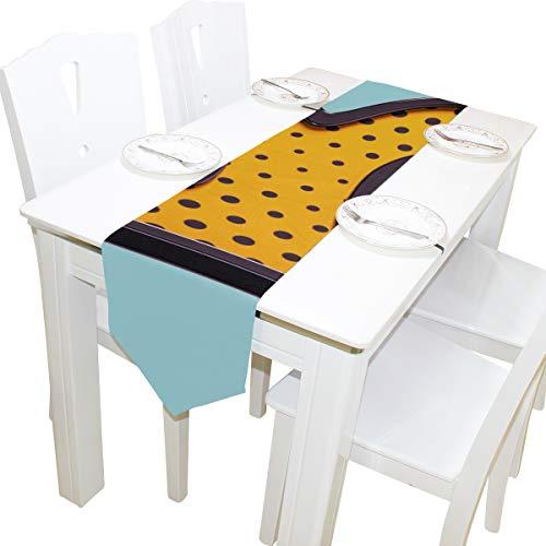 nliche süße lustige Modellierung Kommode Schal Tuch Abdeckung Tischläufer Tischdecke Tischset Küche Esszimmer Wohnzimmer Startseite Hochzeit Bankett Dekor Indoor 13 x 90 Zoll ()